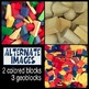 Digital Paper Photographs - Blocks Cubes Coins