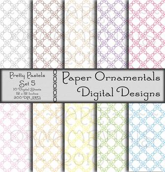 Digital Paper:  Pretty Pastels 5
