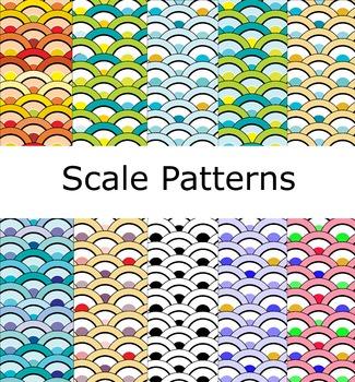 Digital Paper - Scales Pattern