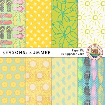 Digital Paper - Seasons: Summer - 8 papers