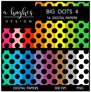 Digital Paper Set: Big Dots 4 {Graphics for Commercial Use}