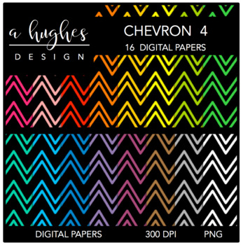 Digital Paper Set: Chevron 4 {Graphics for Commercial Use}