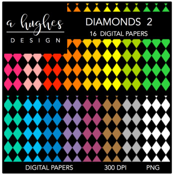 Digital Paper Set: Diamonds 2 {Graphics for Commercial Use}