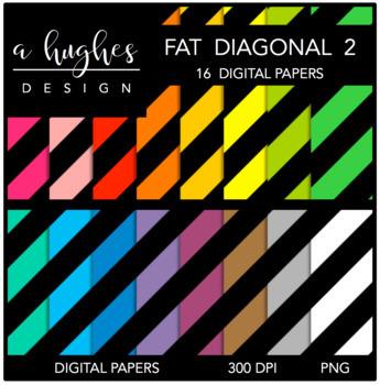 Digital Paper Set: Fat Diagonal Stripes 2 {Graphics for Co