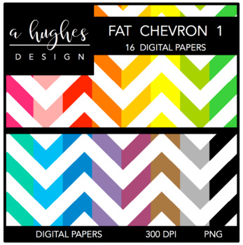Digital Paper Set: Fat Chevron 1 {Graphics for Commercial Use}