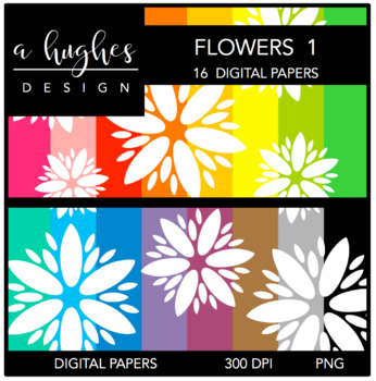 Digital Paper Set: Flowers 1 {Graphics for Commercial Use}