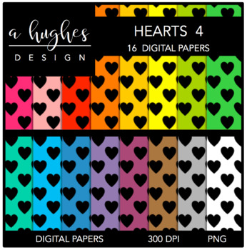 Digital Paper Set: Hearts 4 {Graphics for Commercial Use}
