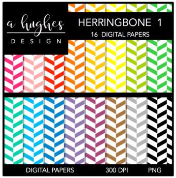 Digital Paper Set: Herringbone 1 {Graphics for Commercial Use}