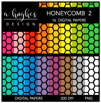 Digital Paper Set: Honeycomb 2 {Graphics for Commercial Use}