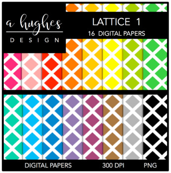 Digital Paper Set: Lattice 1 {Graphics for Commercial Use}