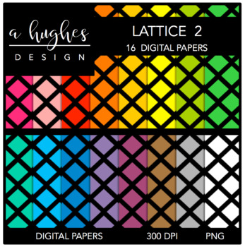 Digital Paper Set: Lattice 2 {Graphics for Commercial Use}