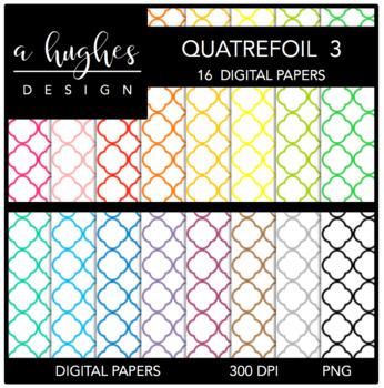 Digital Paper Set: Quatrefoil 3 {Graphics for Commercial Use}