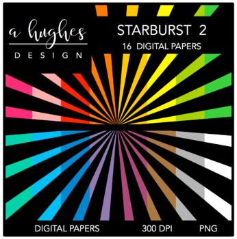 Digital Paper Set: Starburst 2 {Graphics for Commercial Use}