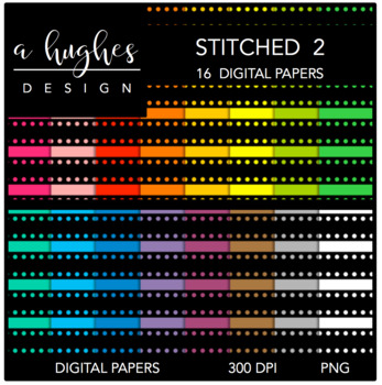 Digital Paper Set: Stitched 2 {Graphics for Commercial Use}
