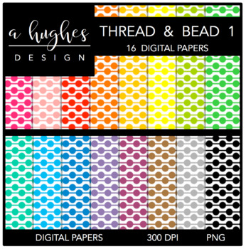 Digital Paper Set: Thread & Bead 1 {Graphics for Commercial Use}