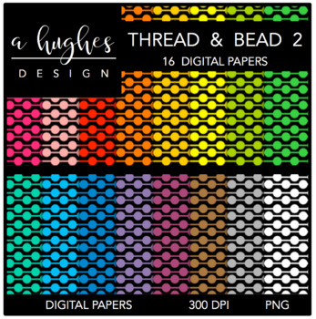 Digital Paper Set: Thread & Bead 2 {Graphics for Commercial Use}