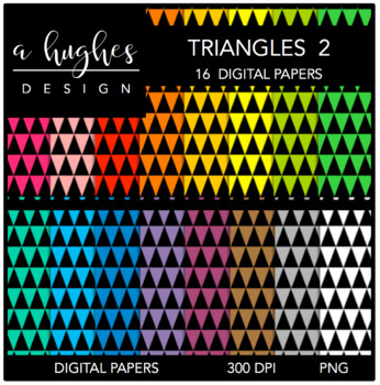 Digital Paper Set: Triangles 2 {Graphics for Commercial Use}