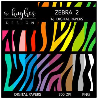 Digital Paper Set: Zebra 2 {Graphics for Commercial Use}