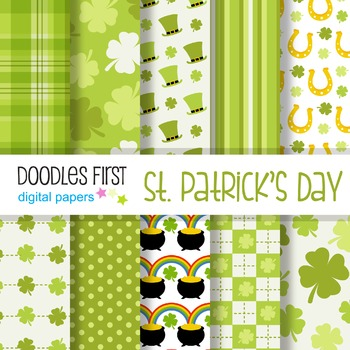 Digital Paper - St Patricks Day great for Classroom art projects