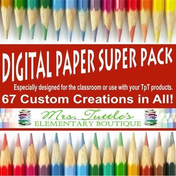 Digital Paper Super Pack - 67 in All!