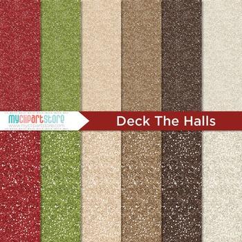 Digital Paper Texture - Glitter Texture Christmas / Deck t