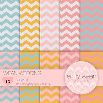 Wean Wedding - Digital Paper - Chevron Background