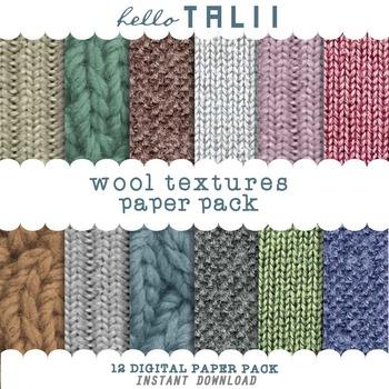 Digital Paper: Wool Textures