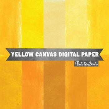 Digital Paper - Yellow Burlap