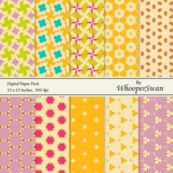 Digital Paper - Yellow Vintage