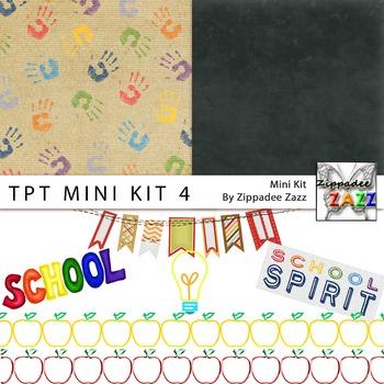 Digital Paper and Clipart - TpT Mini Kit 4