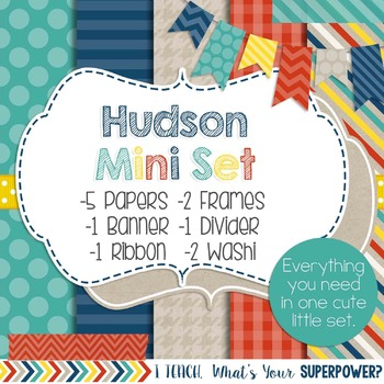 Digital Paper and Frame Hudson Mini Set