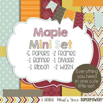 Digital Paper and Frame Maple Mini Set