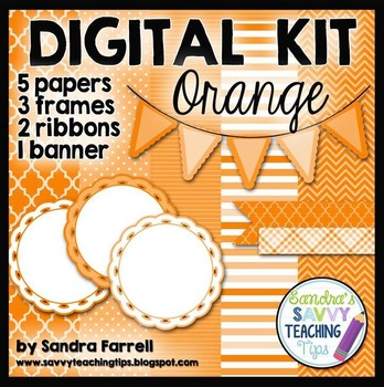 Digital Paper and Frame Mini Kit ORANGE