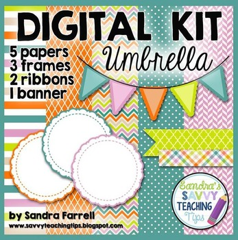 Digital Paper and Frame Mini Kit UMBRELLA