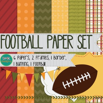 Digital Paper and Frame Set- Football