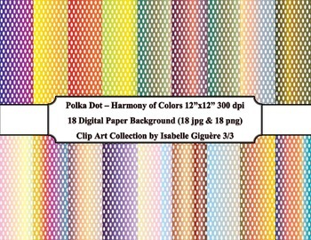 Digital Papers - 18 Polka Dot Harmony of Colors #3 of 3 (C
