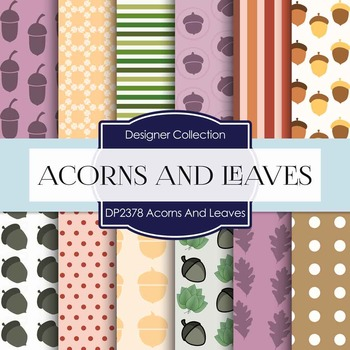Digital Papers - Acorns And Leaves (DP2378)