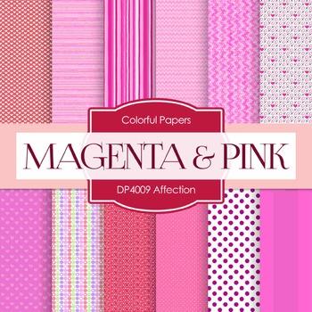 Digital Papers - Affection Magenta Pink (DP4009)