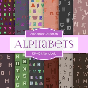 Digital Papers -  Alphabets (DP1457)