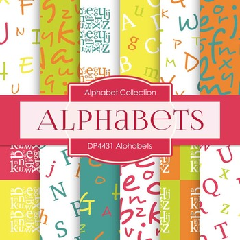 Digital Papers - Alphabets (DP4431)