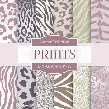Digital Papers -  Animal Prints (DP1708)