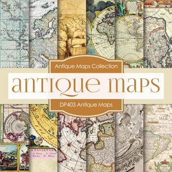 Digital Papers - Anitque Maps (DP403)