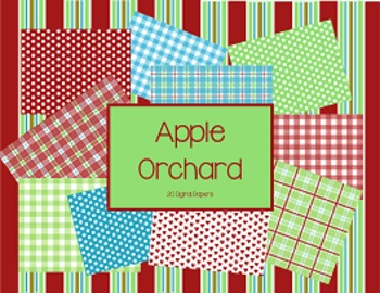 Digital Papers: Apple Orchard