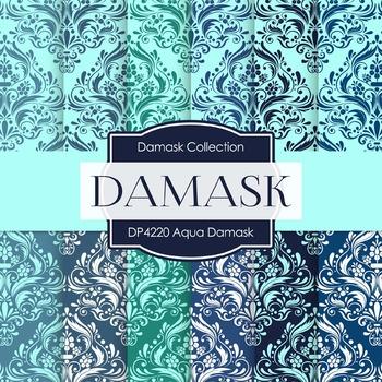 Digital Papers - Aqua Damask (DP4220)