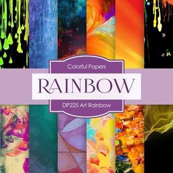 Digital Papers - Art Rainbow (DP225)