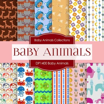 Digital Papers - Baby Animals (DP1400)