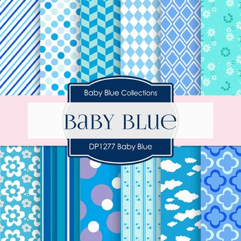 Digital Papers - Baby Blue (DP1277)