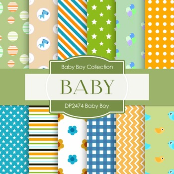 Digital Papers -  Baby Boy (DP2474)