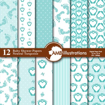Digital Papers - Baby Shower Digital paper and backgrounds