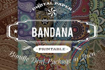 Digital Papers - Bandana Patterns Bundle Deal